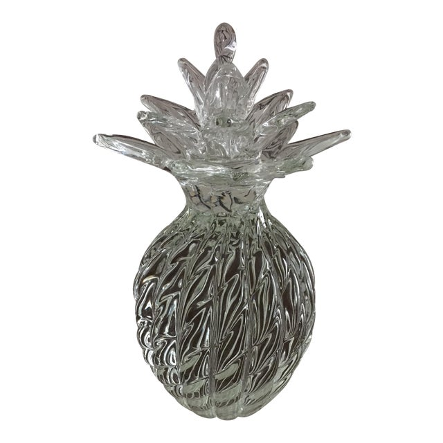 Hand Blown Large Crystal Pineapple For Sale