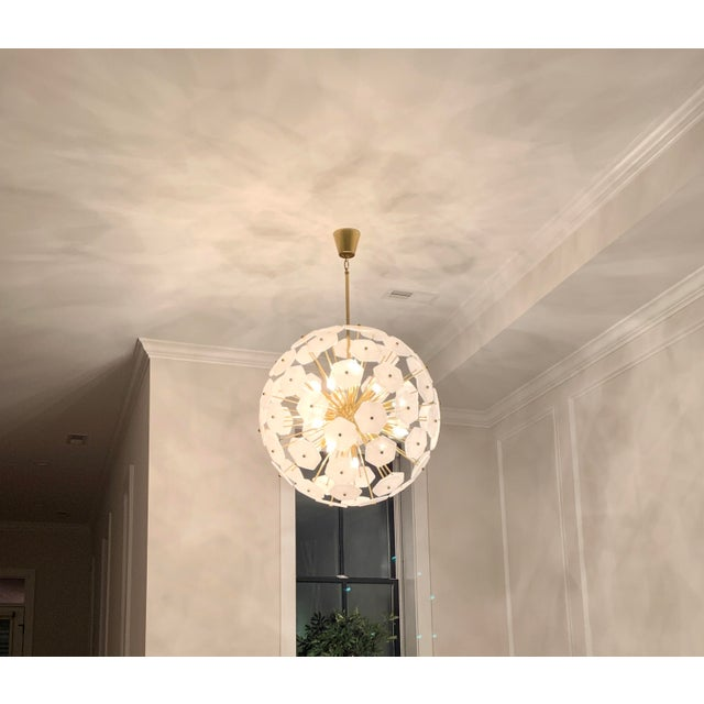 American Jonathan Adler Vienna Globe Chandelier Light Pendant For Sale - Image 3 of 9