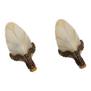 Pair of Art Deco Sconces For Sale