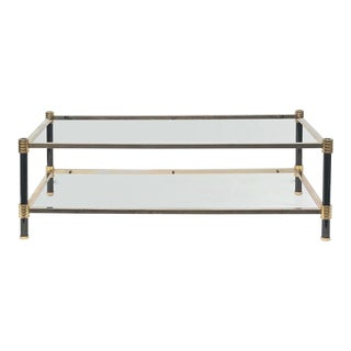 1970s Modern Maison Lancel 2 Tier Coffee Table For Sale