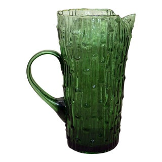 "Anchor Hocking ""Imperial Bambu"" Pattern Pitcher"