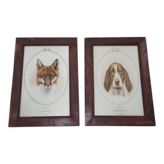 Horse & Hound Prints - a Pair For Sale