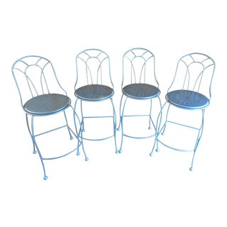 Cafe Style Counter Stools by Homecrest-Set Of 4 For Sale