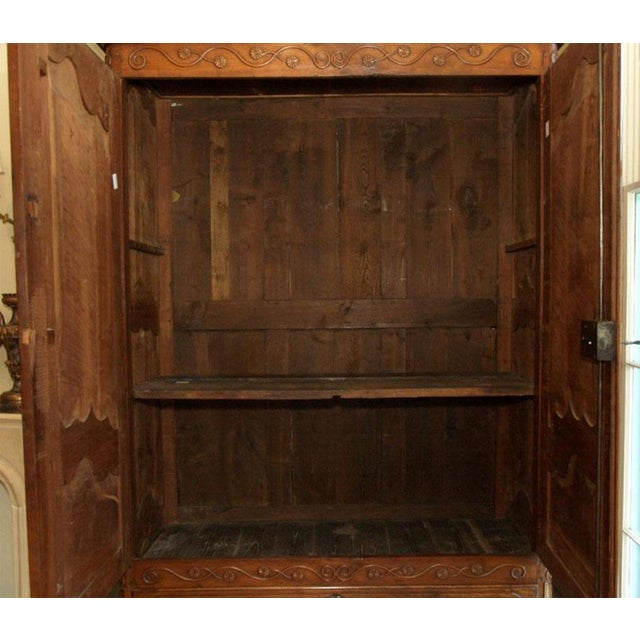 Louis XV Walnut Armoire For Sale - Image 4 of 10