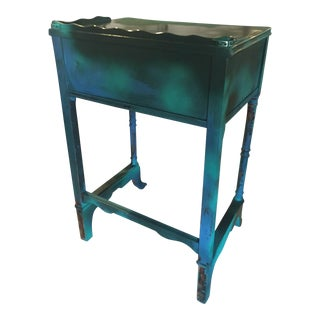Refurbished School Desk Side Table