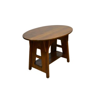1910s Mission Charles Limbert Oak Accent Center Table For Sale