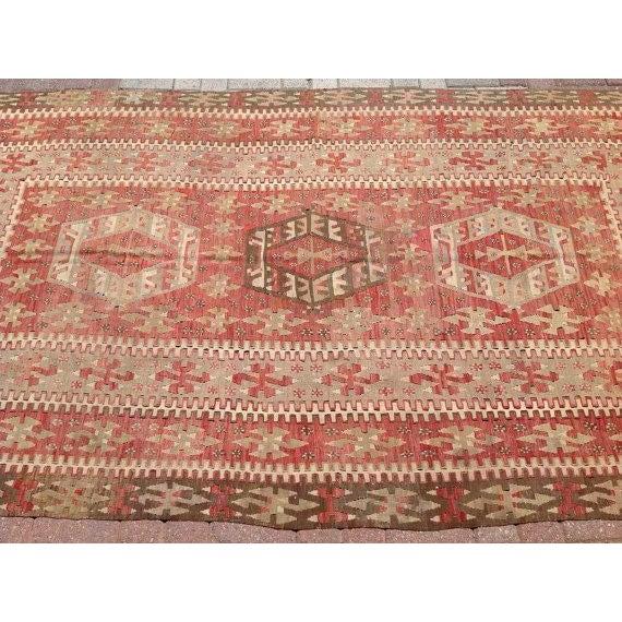 Vintage Turkish Kilim Rug - Image 3 of 6