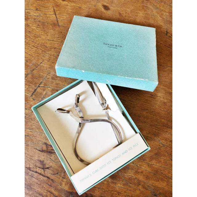 1950s Tiffany & Co Sterling Silver Ice Tongs and Pick - a Pair For Sale - Image 10 of 11