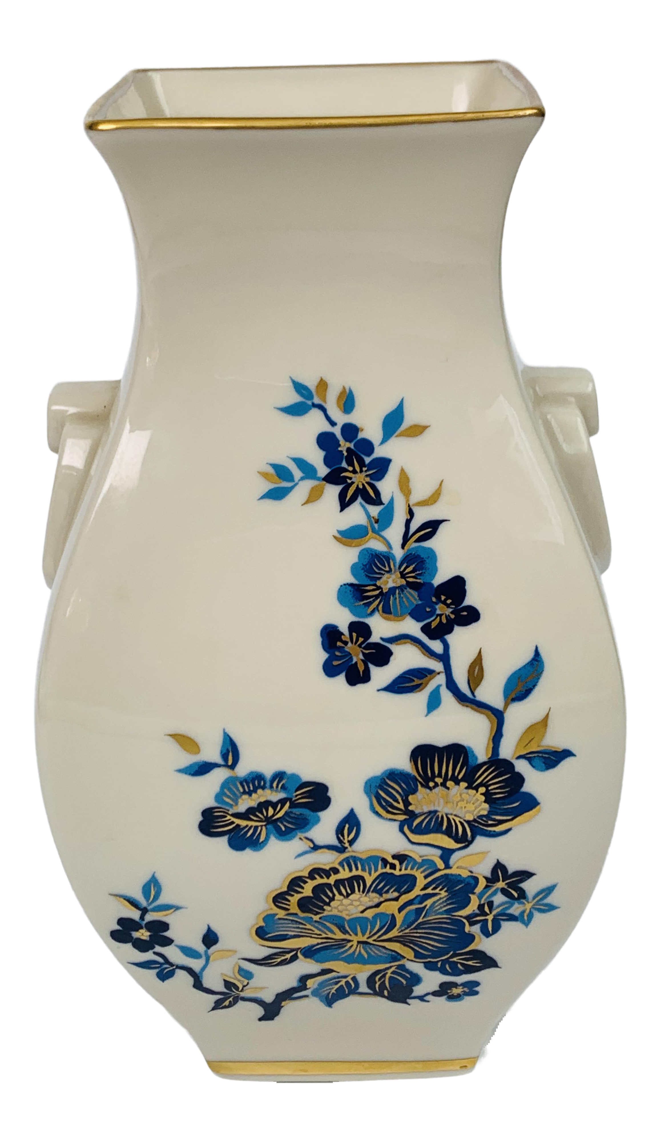 Vintage Lenox Pagoda Blue White and 24k Gold Hand Painted Vase For Sale  sc 1 st  Chairish & Vintage Lenox Pagoda Blue White and 24k Gold Hand Painted Vase ...