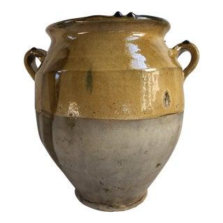 Antique French Provincial Confit Pot For Sale