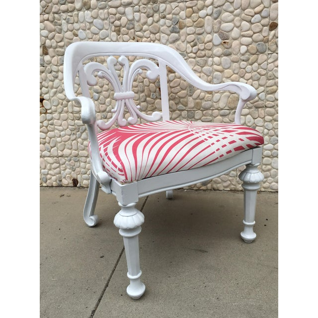 1960s Set of 4 Dorothy Draper Rare Patio Chairs Made by Kessler For Sale - Image 5 of 9