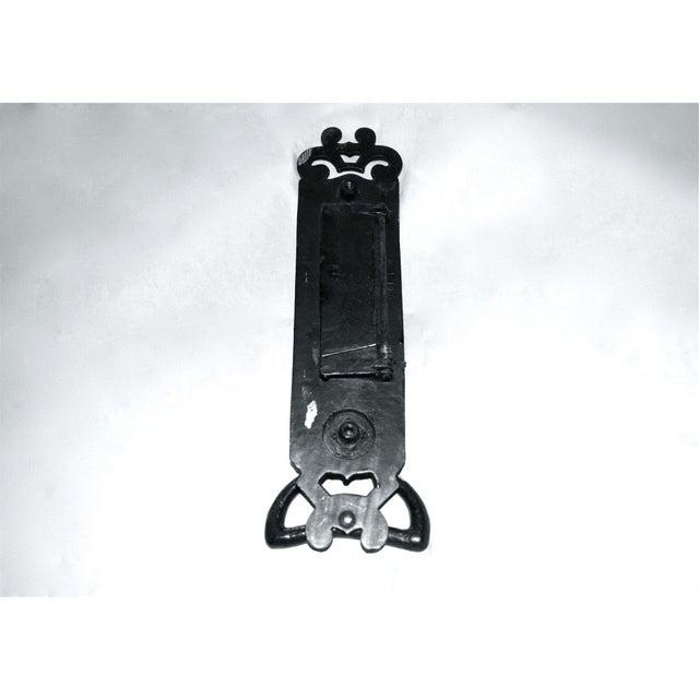 Cast Iron Nouveau Knocker W/Letter Slot For Sale - Image 6 of 10