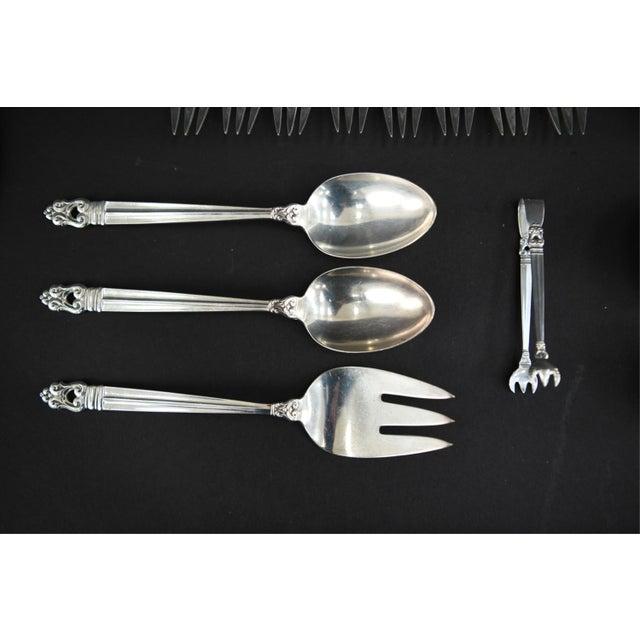 1930s International Silver Royal Danish Sterling Silver Flatware - 60 Piece Set For Sale - Image 5 of 10