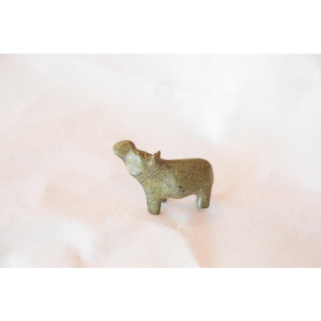 Vintage African Bronze Casting of Hippo - Image 3 of 4