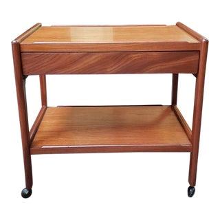 Classic Mid Century Modern Teak Bar Cart C.1960 For Sale
