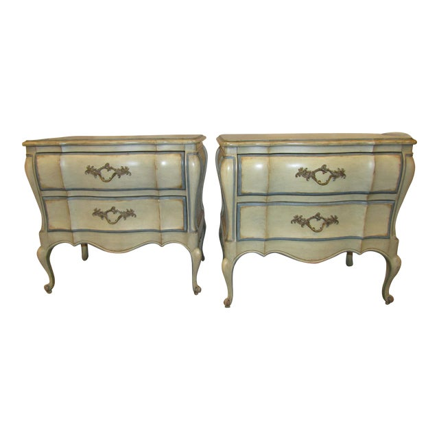 Dixon Bombe Nightstands - A Pair For Sale
