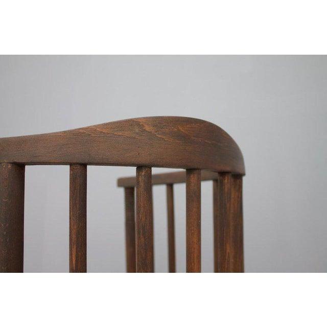 Wood Early Josef Hoffmann Barrel Chair Jacob & Josef Kohn Austria, 1880 For Sale - Image 7 of 12