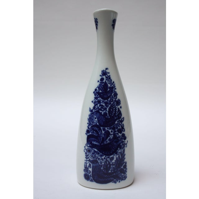 White Vintage Norwegian Modern 'Bird and Floral' Vase by Porsgrund For Sale - Image 8 of 8