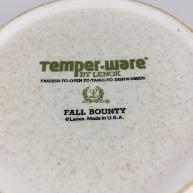 Fall Bounty Stoneware Open Fondue Pot For Sale - Image 9 of 10