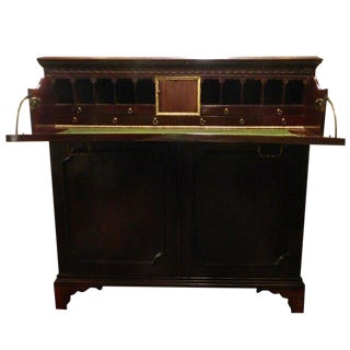 Circa 1825 English Mahogany Butlers Desk For Sale