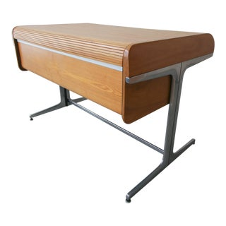 Rare Mid Century George Nelson Action Office Desk in Ash For Sale