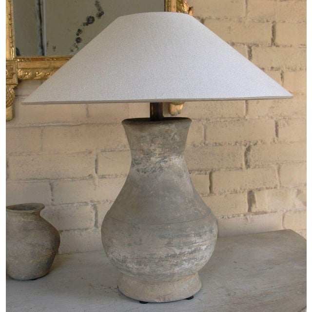 Chinese Han Dynasty Period Unglazed Vase as Table Lamp For Sale - Image 10 of 10