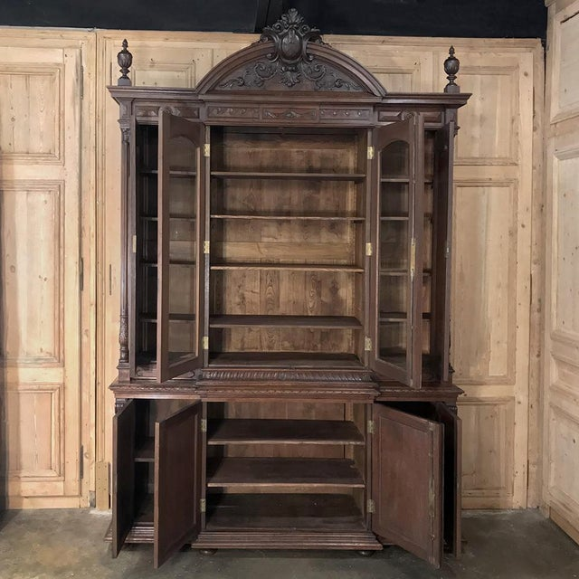 19th Century French Renaissance Grand Bookcase For Sale - Image 4 of 13