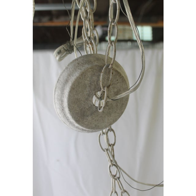 Metal Napoli Style 'Aiden' Gray Draped Transparent Chandelier For Sale - Image 7 of 8