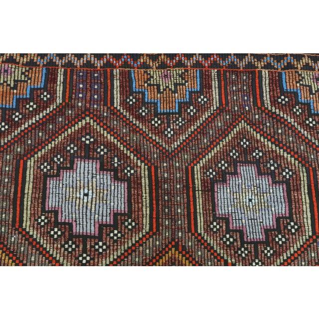 "Vintage Turkish Kilim Rug-7'6'x9'6"" For Sale - Image 10 of 13"