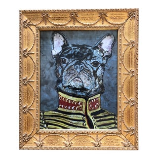 """French Bull Dog Print by Judy Henn """"Military Frenchie"""" For Sale"""