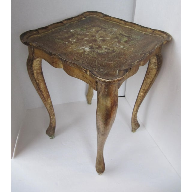 Italian Florentina Side Table, Waste Paper Can & Catchall-3 Pieces For Sale - Image 3 of 7