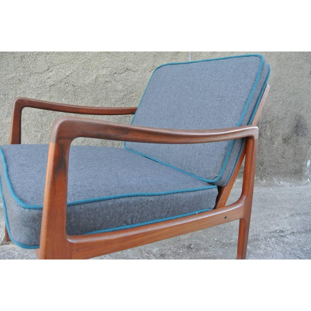 Newly reupholstered easy chair by Ole Wanshcer for John Stuart