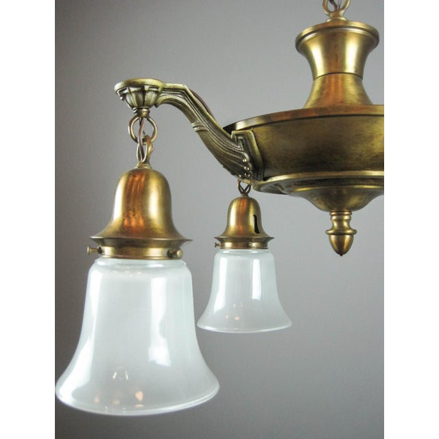 Antique Pan Light Fixture (4-Light) - Image 6 of 6