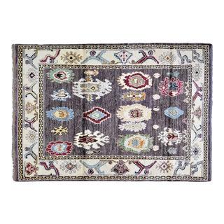 "Vintage Turkish Wool Oushak Rug,5'6""x8' For Sale"