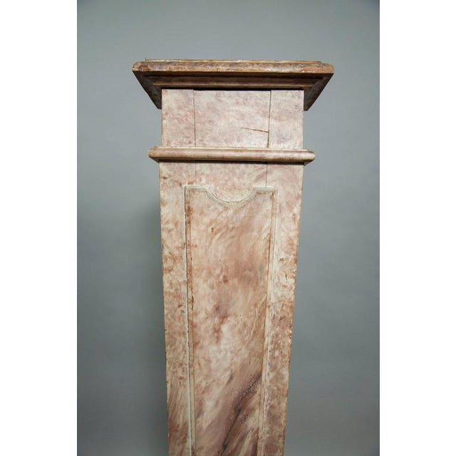 Mid 19th Century European Faux Marble Wood Pedestal For Sale - Image 5 of 8