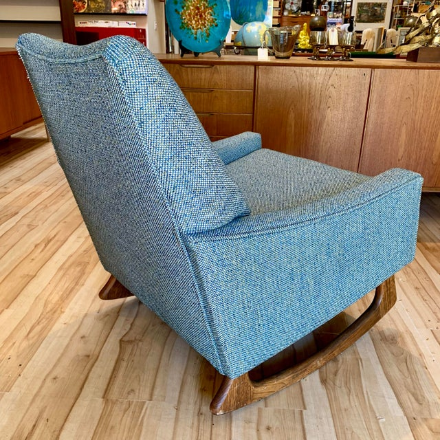 Fabric Vintage Mid-Century Adrian Pearsall for Craft Associates Rocking Chair For Sale - Image 7 of 11
