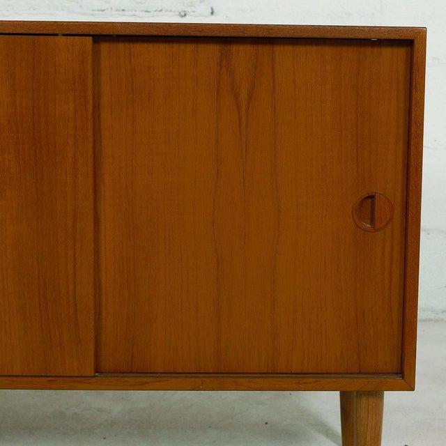 Petite Danish Modern Teak Bar Cabinet - Image 8 of 10