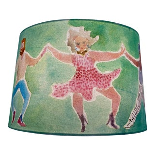 Happy Menocal Contemporary Green Hand Painted Lampshade