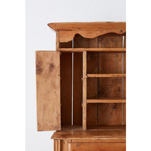 19th Century English Pine Cupboard Dresser With Rack For Sale In San Francisco - Image 6 of 13