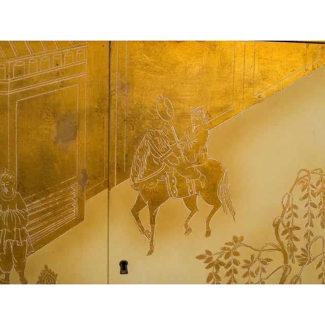 1960s Painted Chinoiserie Credenza For Sale - Image 5 of 10
