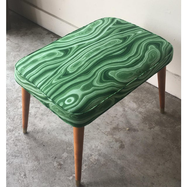 This little bench adds a big WOW factor to any space. Newly upholstered in a Malachite fabric that is incredibly...