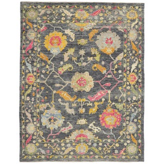 Contemporary Turkish Oushak Rug with Modern Style