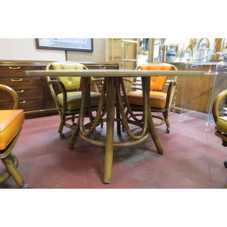 Vintage Mid Century Modern Rattan Dining Set - 5 Pieces Preview