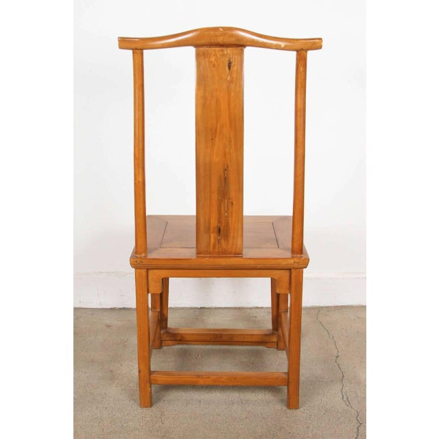Chinese Ming Style High Back Elm Chairs - a Pair For Sale - Image 4 of 8