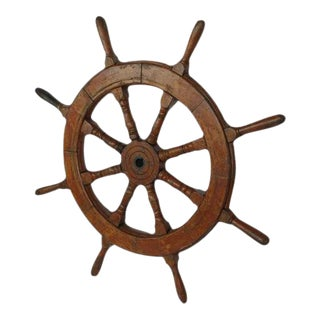Late 19th Century Ship Steering Wheel For Sale