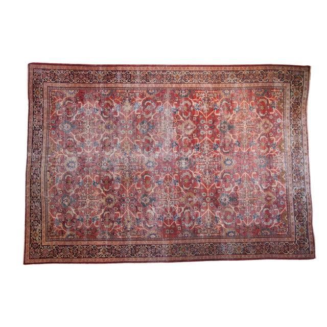 "Antique Persian Mahal Carpet - 7'1"" x 10'1"" - Image 1 of 9"