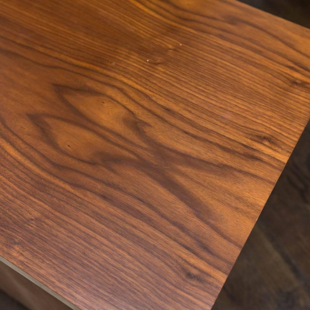 Walnut and Cerused Oak Two-Drawer Cabinet For Sale In New York - Image 6 of 7