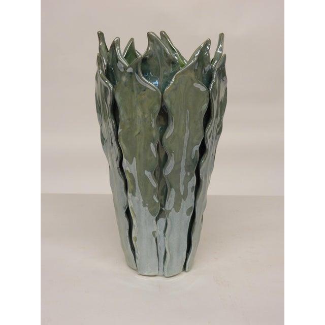 2010s Contemporary Italian Art Ceramic Vase For Sale - Image 5 of 5