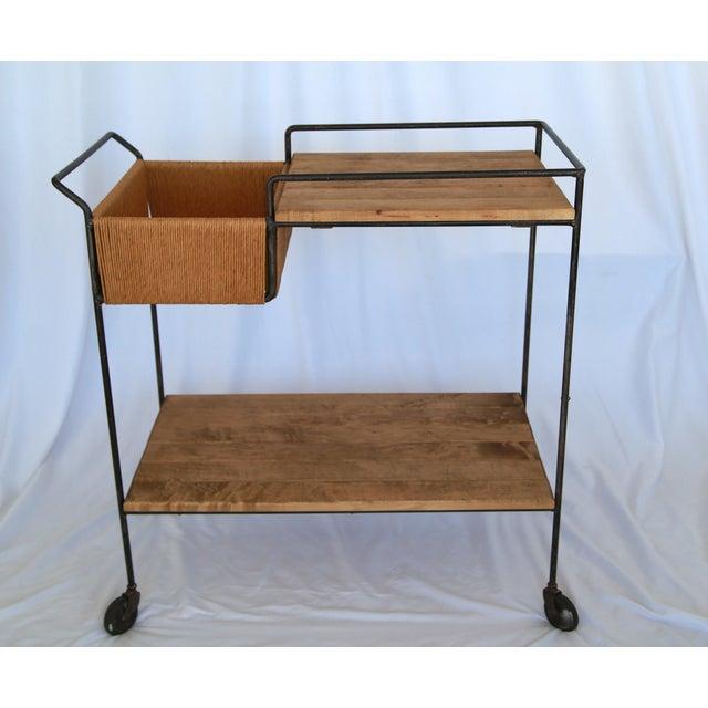 Mid-Century Modern 1950s Mid-Century Modern Sleek Arthur Umanoff Bar Cart For Sale - Image 3 of 5
