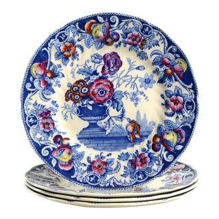 Royal Doulton Pomeroy Blue Salad Plate - Set of 4 For Sale